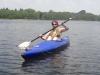 Berlin-Woman paddelt