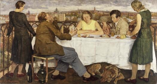 Lotte Laserstein, Abend über Potsdam, 1930