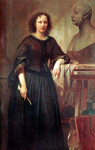 Friedrich Kaulbach, Elisabeth Ney, 1860, Landesmuseum Hannover