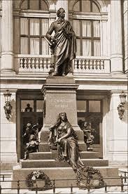 Das Mendelssohn-Denkmal in Hamburg. Ist die Muse der Musik etwa Fanny Hensel? Bild: www.musikviertel.de