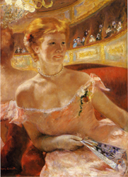 Mary Cassatt, Lydia at the theatre, 1879, Bild: www.employees.oneonta.edu