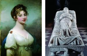 Bild: Josef Grassi, Luise von Preußen, 1802. Christian Daniel Rauch, Grabskulptur der Königin Luise, Bild: www.kulturstiftung.de