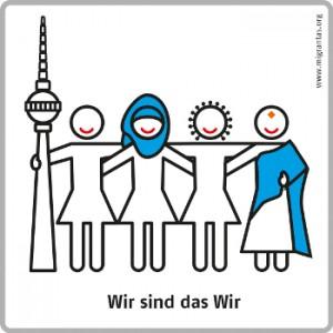 ©migrantas piktogramm, wir sind das Wir, Kollektiv migrantas