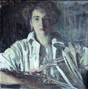 Augusta von Zitzewitz, Selbstportrait, um 1910, Bild: www.inselgalerie-berlin.de