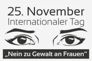 Nein zu Gewalt an Frauen auf Berlin-Woman
