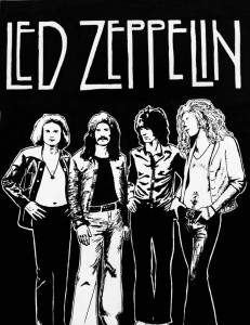 Bild: Led Zeppelin poster, by ZapoLight79, Traditional Art/Drawings/Other, ©2012-2014 ZapoLight79