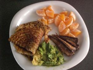 Powerfrühstück: Pancake, Mandarinen, Avocado und Räucherfisch! ©Berlin-Woman