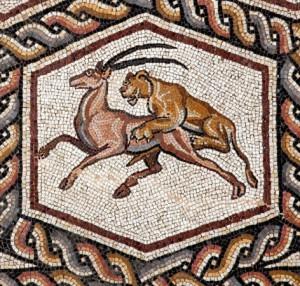 Jäger und Gejagte, Das römische Mosaik aus Lod, Altes Museum Berlin bis 11.05.2014, Bild: www.museumsportal-berlin.de