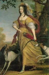 Wilhelm van Honthorst, Luise Henriette als Diana, 1643, Utrecht, Centraal Museum. Bild: de.wikipedia.org