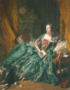 Francois Boucher, Mme Pompadour, Öl/Lw, 201 x 157 cm, 1756, Bayr. Staatsgemäldesammlung, Bild: www.pinakothek.de/francois-boucher