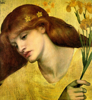 Bild: Dante Rosetti, Santca Lilias, 1874, Tate Modern London.www. wikiart.org