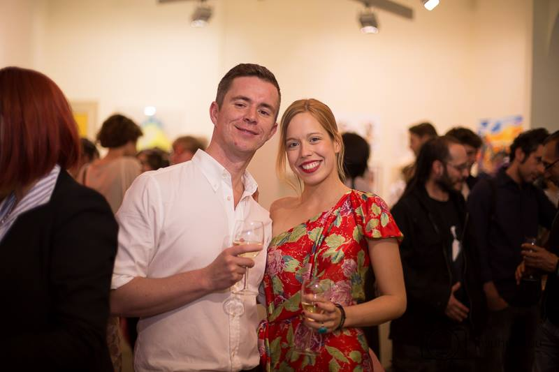 Simon Williams und Carlota Ibañez de Aldecoa Silvestre von der Pop Up Art Gallery, ©Dragos Ardeleanu