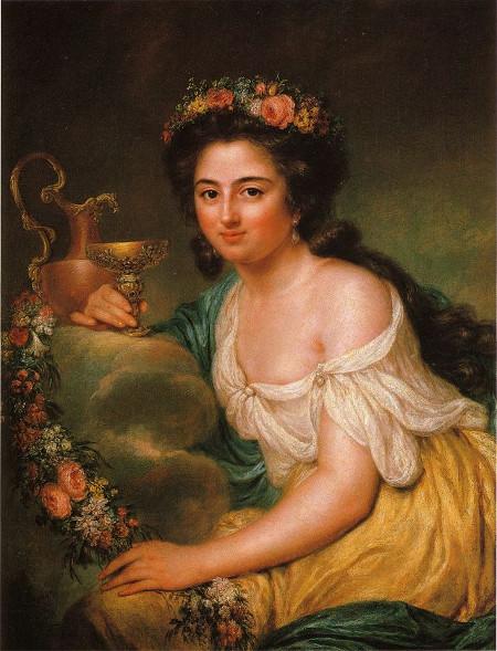 Henriette Herz als Hebe, Portrait von Anna Dorothea Therbusch, 1778, Staatl. Museen Pr. Kulturbesitz SMPK Berlin, Bild: de.wikipedia.org