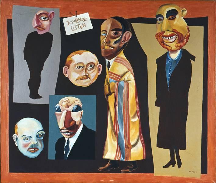 Hannah Höch, die Journalisten, 1925, Berlinische Galerie