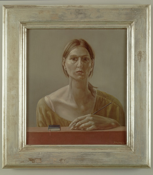 Gisela Breitling, frühes Selbstportrait, all rights reserved to the artist