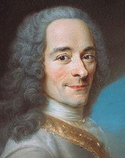 Voltaire, Portrait von Maurice Quentin de La Tour, Ausschnitt, Bild: en.wikipedia.org