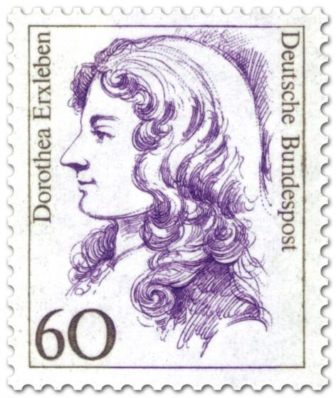 Bild: briefmarken-bilder.de/brd-briefmarken-1987/dorothea-erxleben-aerztin