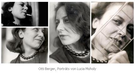 Bild: Otti Berger, Fotoportraits von Lucia Moholy. Bild: fembio.org