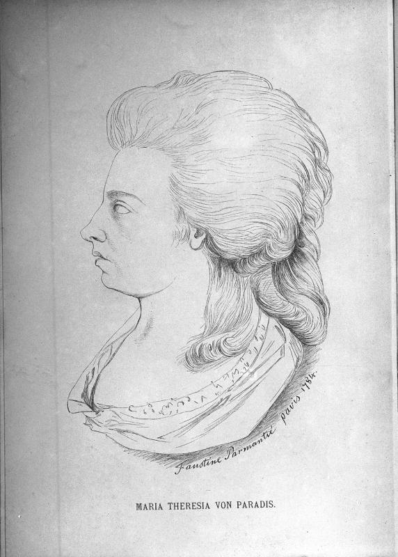 F. Parmantié, Maria Theresia Paradis, 1784, Bild: http://de.wikipedia.org/wiki