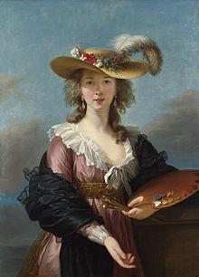 Elisabeth Vigée-Lebrun, Selbstbildnis mit Strohhut,  nach 1782, National Gallery, London. Bild: http://de.wikipedia.org