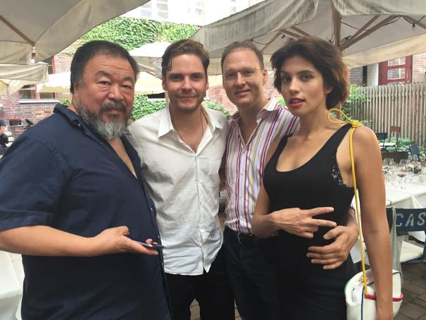 Ai Weiwei, Daniel Brühl, Jaka Bizilj und Nadeschda Tolokonnikowa