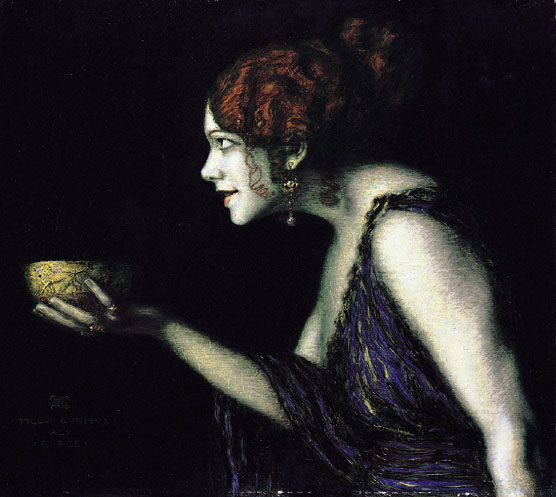 Franz von Stuck: Tilla Durieux als Circe, um 1913, Alte Nationalgalerie Berlin. Bild: https://commons.wikimedia.org