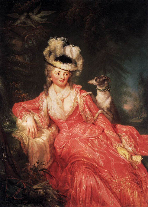 Anna Dorothea Therbusch, Gräfin Lichtenau, 1776, Potsdam Neues Palais. File: https://commons.wikimedia.org/wiki/File:Anna_Dorothea_Therbusch_-_Wilhelmine_Encke,_Countess_Lichtenau_-_WGA22210.jpg