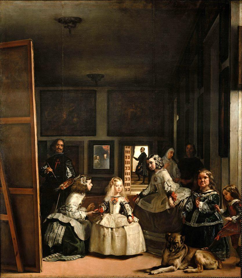 Diego Vealzquez, Las Meninas, Öl/Lw., 318 × 276 cm, 1656. Museo del Prado. Bildquelle: https://de.wikipedia.org/wiki/Las_Meninas#/media/File:Las_Meninas_%281656%29,_by_Velazquez.jpg