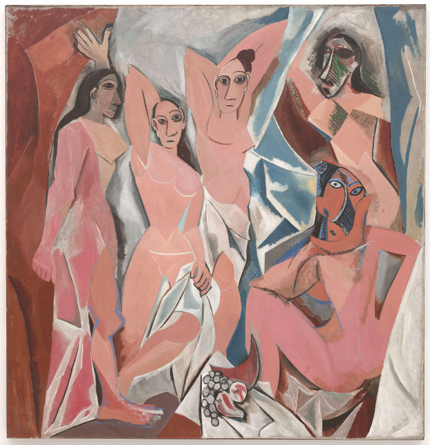 Pablo Picasso, Les Demoiselles d´Avignon, 1907, Moma NY, Bild: https://de.wikipedia.org/wiki/Les_Demoiselles_d%E2%80%99Avignon
