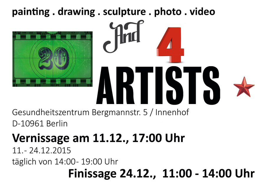 20 and 4 ARTISTS auf Berlin-Woman