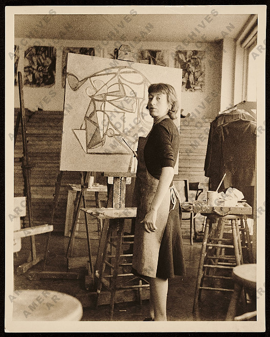 Lee Krasner, ca. 1938, Archives of American Art Smithsonian Institution. Bild: http://www.aaa.si.edu/collections/items/detail/lee-krasner-7618
