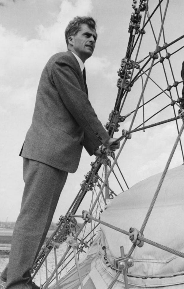 Frei Otto und seine Zeltdachkonstruktion. Bild: http://www.quer-magazin.at/home/16-2015/frei-otto