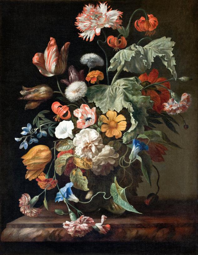 Rahel Ruysch, Stillleben, um 1700. Bildquelle: en.wikipedia.org