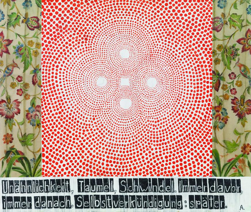 Martin Assig, Mirakel,  Enkaustik/Holz, 114 x 134 cm, 2009. © courtesy Diehl, Foto: Gunter Lepkowski. © VG Bild-Kunst, Bonn 2016.  Quelle: http://www.kunstverein-kunsthaus-potsdam.de/