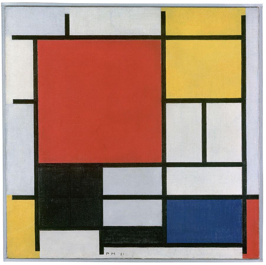 Piet Mondrian, Piet Mondrian, Komposition mit Rot, Gelb, Blau und Schwarz, 1921, Gemeentemuseum, Den Haag, http://www.gemeentemuseum.nl/collection/item/6496 http://www.lifeproof.fr/mon_weblog/2011/01/piet-mondrian-lartiste-qui-aimait-peindre-les-arbres-by-stefania.html