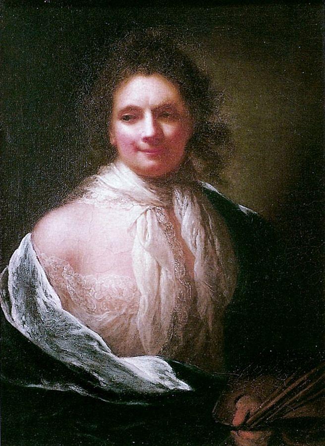 Anna Dorothea Therbusch, Selbstportrait, 1761. Quelle: Franzes Borzello: Wie Frauen sich sehen - Selbstbildnisse aus fünf Jahrhunderten; S.72. File: https://upload.wikimedia.org/wikipedia/commons/b/bf/Anna_Dorothea_Therbusch_-_1761.jpg