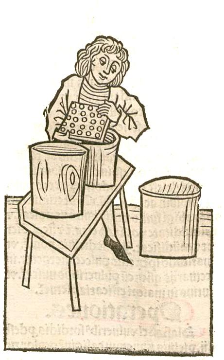 Honigmacher, Mel, Hortus sanitatis, Mainz 1491, Gemeinfrei, https://commons.wikimedia.org/w/index.php?curid=45966429