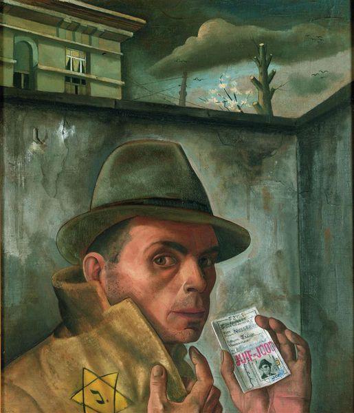 Felix Nussbaum: Selbstbildnis mit Judenpass, um 1943, Felix-Nussbaum-Haus. http://www.osnabrueck.de/fnh/felix-nussbaum.html